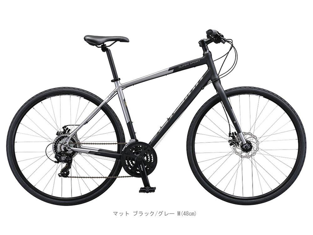 SCHWINN(シュウィン) 2018 SUPER SPORT(スーパー スポーツ) クロスバイク <マット ブラック/グレー> B0798KP4TR X-Small
