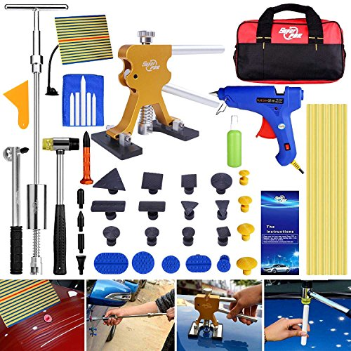 Super PDR 40pcs NEW Auto CAR Body Restore Tool Dent Repair Tools PDR Puller Gold Dent Lifter Puller Tabs by Super PDR