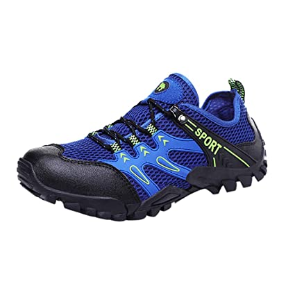 b2eb33e6c1b Amazon.com: JJLIKER Mens Water Shoes Lightweight Quick Dry Sports Aqua  Barefoot Outdoor Swim Trainers Beach Shoes: Sports & Outdoors