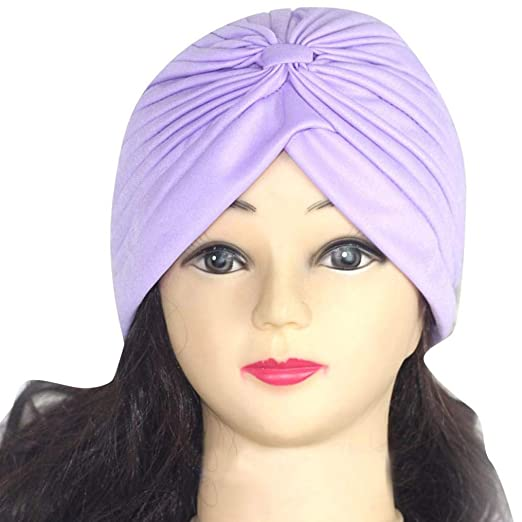 JPOQW Women s Turban Chemo Hats Solid Color Indian Hat Yoga Cap Beauty Big  Satin Bonnet at Amazon Women s Clothing store  2753991aca33