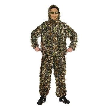 Hojas Ghillie Suit Woodland Camo camuflaje ropa 3d selva caza: Amazon.es: Deportes y aire libre
