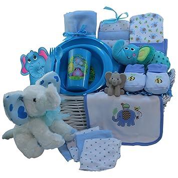 Amazon eli the elephant baby gift basket blue boys baby eli the elephant baby gift basket blue boys negle Images