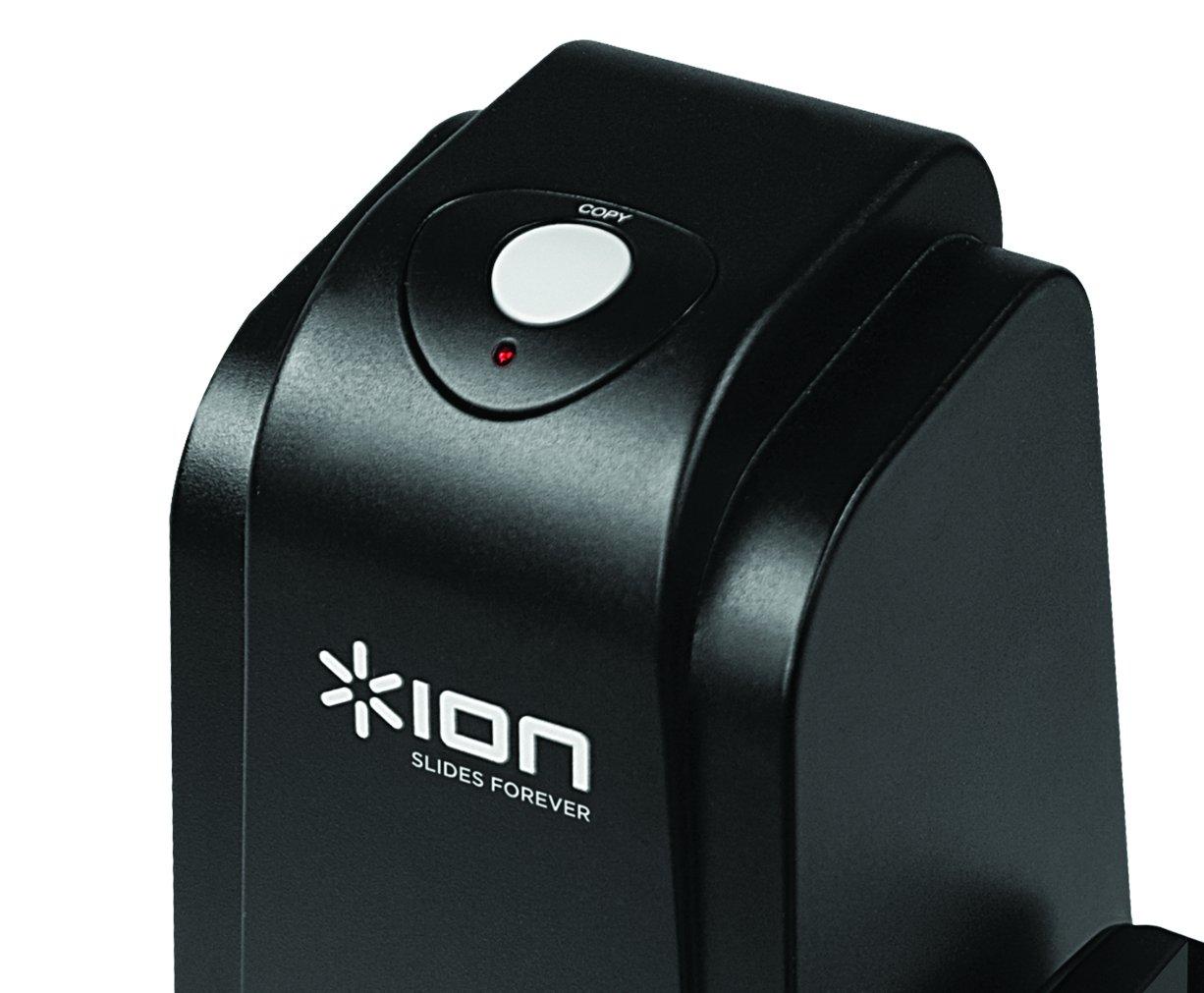 incluye software para Mac y PC Esc/áner de alta resoluci/ón de diapositivas y negativos de 35 mm a tarjetas SD ION Audio Film 2 SD Plus