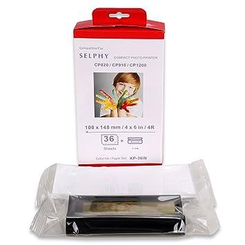 Amazon.com: kp-36in Juego de papel de color de tinta/tinta ...