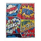 MyDaily Retro Pop Art Comic Shower Curtain 60 x 72 Inch, Mildew Resistant & Waterproof Polyester Decoration Bathroom Curtain