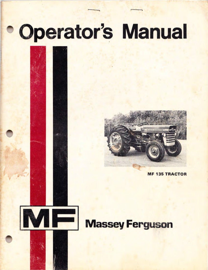 Massey Ferguson 135 Operators Manual MF owners operator: Massey Furgeson:  0766742552367: Amazon.com: Books
