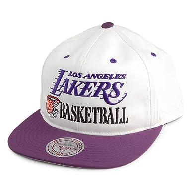 Mitchell & Ness Gorra Snapback Dunk L.A. Lakers Blanco Roto-Morado ...