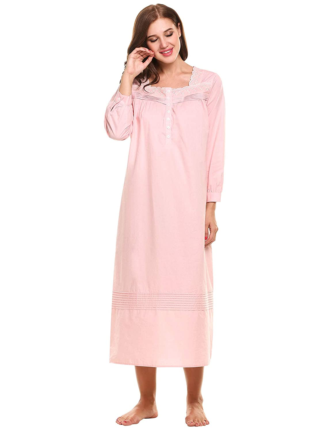 Hotouch Women s Comfort Cotton Nightshirt Sleeveless Sleepwear Nightgowns S- XXL at Amazon Women s Clothing store  df0d86e6d