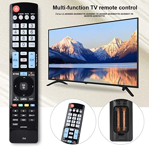 AKB73756581 Reemplazo de Control Remoto de TV para LG 40UB800 / 40UB800TTB / 40UB800T-TB / 40UB809 / 40UB809YYB / 40UB809Y-YB / 42UB700 / 42UB700TTH: Amazon.es: Electrónica
