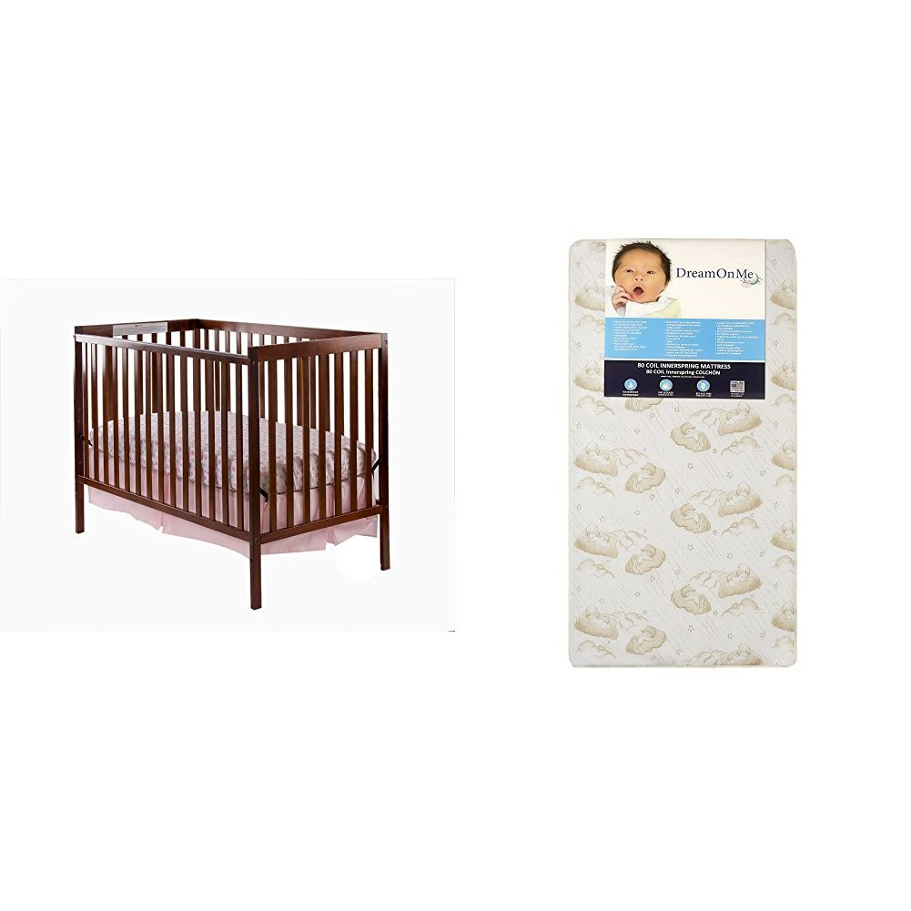 Dream On Me Synergy 5-in-1 Convertible, Crib + Mattress, White