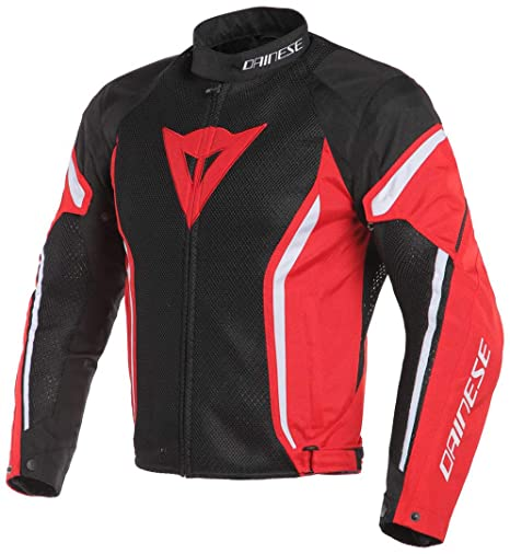 Dainese MenS Air Crono2 Tex Jacket Black/Red/White 58