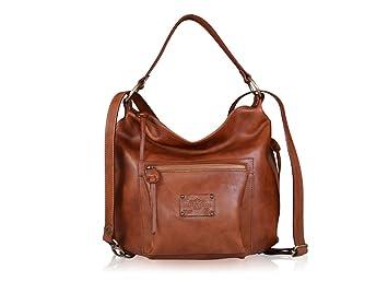 Robe di Firenze Genuine Italian Brown Leather Hobo Bag Backbag ... a50519a4c3
