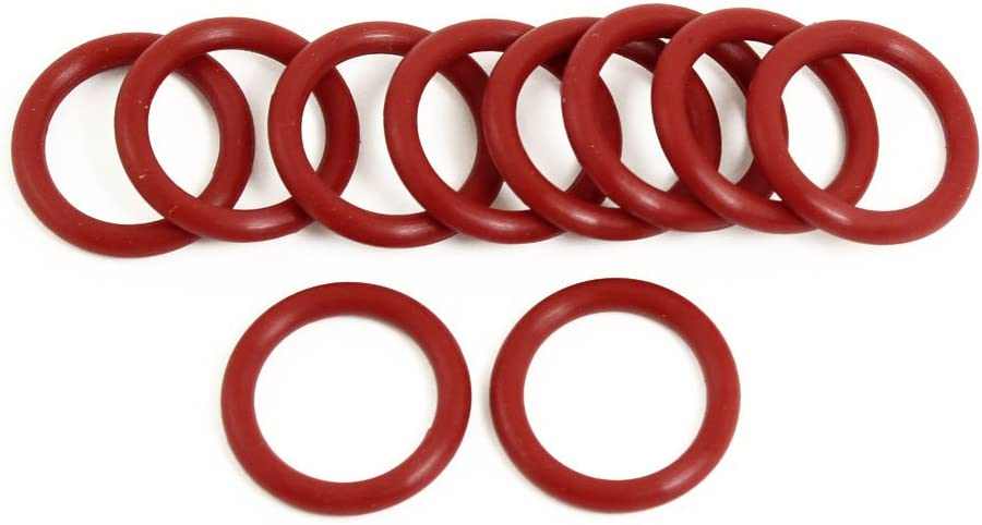 uxcell 10 x Industrial Flexible Red Rubber O Ring Seal Gasket 22mm x 3mm x 16mm