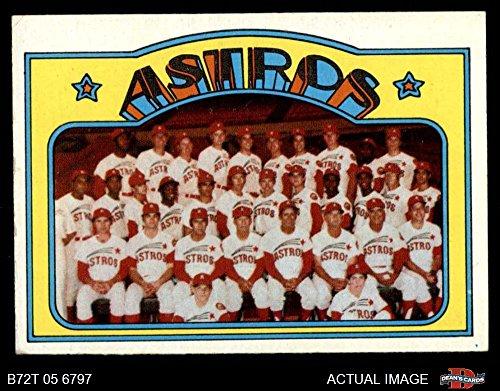 1972 Topps # 282 Astros Team Houston Astros (Baseball Card) Dean's Cards 4 - VG/EX Astros