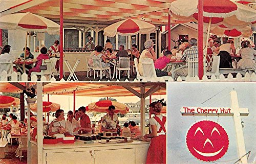 Beulah Michigan exterior views The Cherry Hut restaurant vintage pc - Hut Cherry