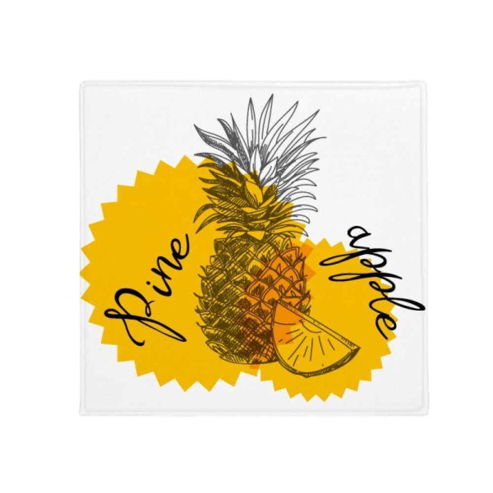 DIYthinker Yellow Pineapple Drawing Fruit Anti-Slip Floor Pet Mat Square Home Kitchen Door 80Cm Gift