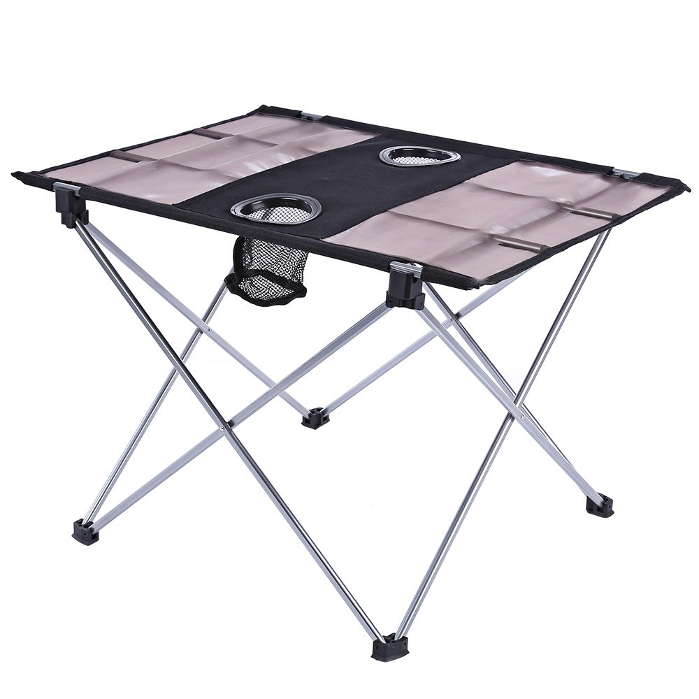 Tragbar Outdoor Ultralight Klapptisch Aluminium Legierung Oxford Stoff Faltbare Tisch für Camping Wandern