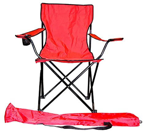 Awesome Vmi Folding Chair With Cupholder Red Pabps2019 Chair Design Images Pabps2019Com