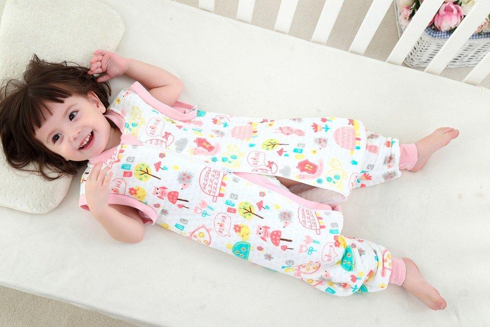 M, Beige Gemini Fairy Fairy Saco de dormir saco para beb/é--Mono lindo de la historieta