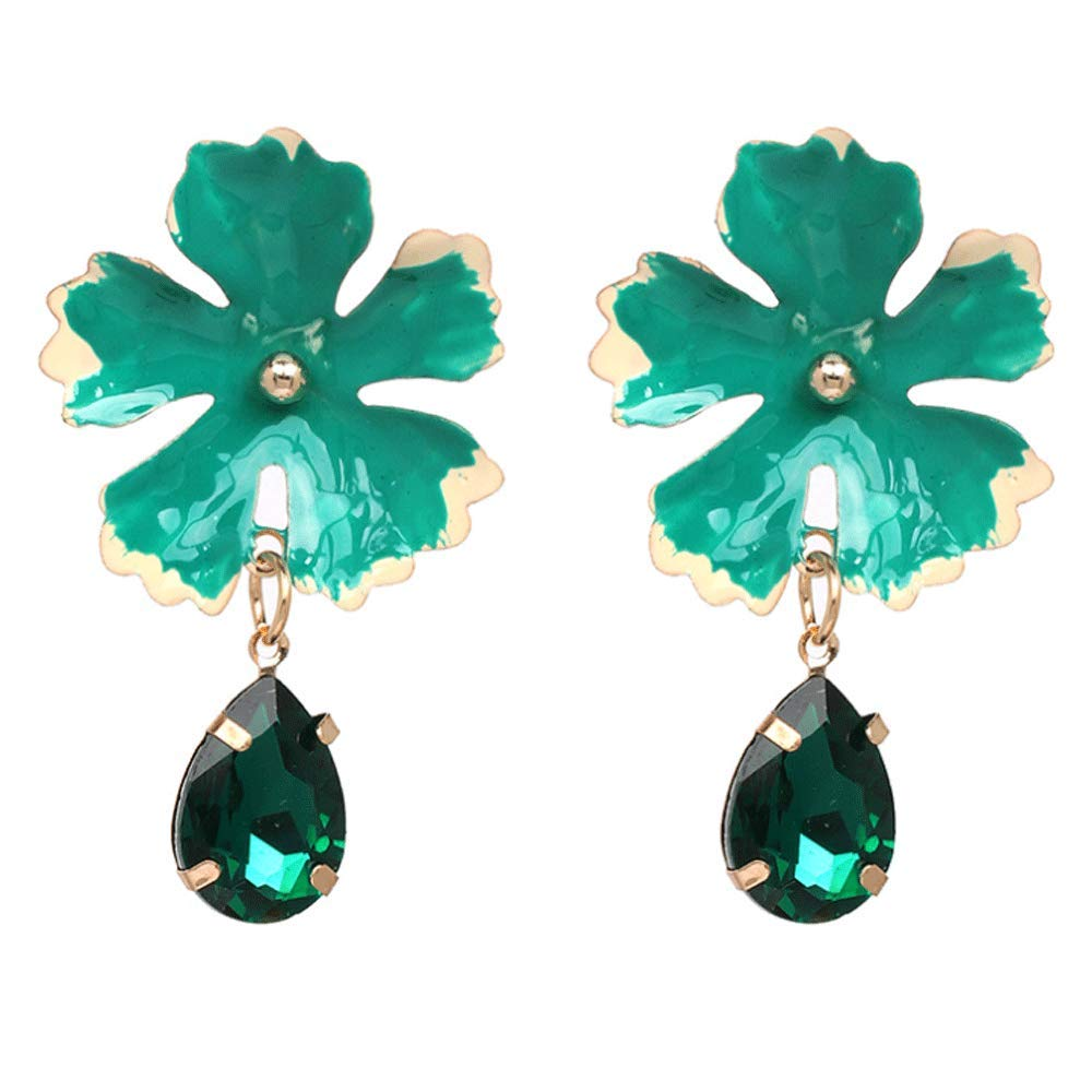 Big Flower Stud Earrings Flower Pierced Earrings Women
