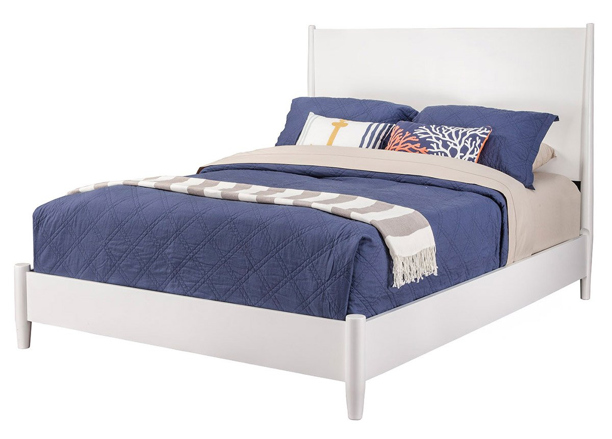 Stone Beam Tisbury Nailhead Trim Queen Bed, 66 W, Spinnsol Indigo