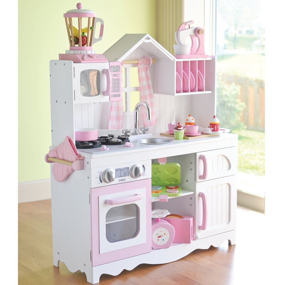 Amazon.com: Constructive Playthings CPX 1032 Complete Lifestyle Wooden Play  Kitchen With Accessories Set, Grade: Kindergarten To 3: Industrial U0026  Scientific
