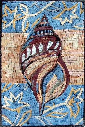 Wall Pool Art Tile (Sea Shell Hand Made Ocean Mosaics Decorative Wall Floor Bath Pool)