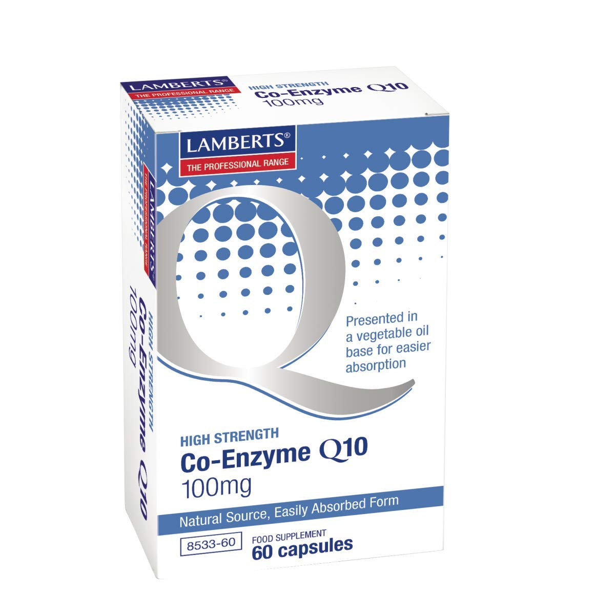 Amazon.com: Lamberts Co-Enzyme Q10 100mg , 60 capsules ...