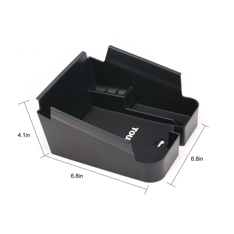 Vesul Armrest Secondary Storage Box Glove Pallet Center Console Tray Fits on VW Volkswagen Touareg 2011 2012 2013 2014 2015 2016 2017 2018