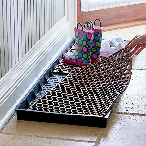DermaPAD Boot Tray Entryway Mat with Removable Inserts For Mud Room - LARGE