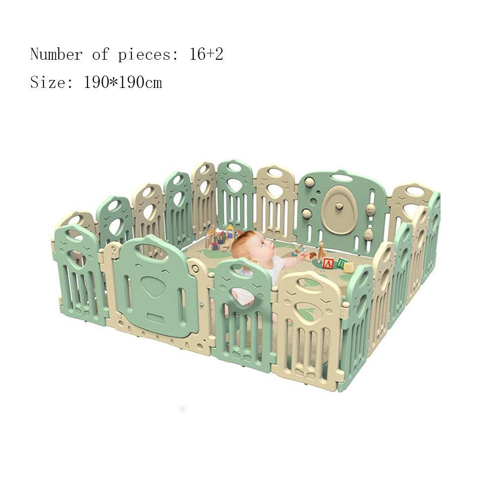 XIAOLIN 子供のプレイフェンス折りたたみ可能なプラスチック製の幼児の独立した屋内プレイフェンス 190*190cm) (サイズ さいず : 190 190*190cm :*190cm) 190*190cm B07LGZ9814, 森山町:0b8b434d --- bennynews.com
