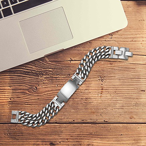 Center Gifts Elegant Stainless Steel Double Strand Men