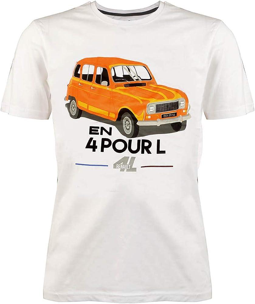 LATELIER RENAULT Legend - Camiseta para Hombre (4 L) Blanco S ...