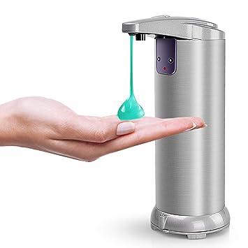 Kousing Seifenspender Automatisch Automatischer Seifenspender Edelstahl Touchless Schaumseifenspender Infrared Sensor Seifenspender f/ür K/üchen und Badezimmer mit Wasserdichter Basis