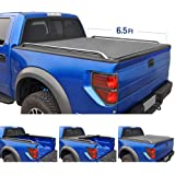 Tyger Auto TG-BC2C2059 Low Profile Roll-Up Truck Bed Tonneau Cover works with 2014-2018 Chevy Silverado/GMC Sierra 1500 2500 3500 HD   Fleetside 6.5' Bed   w/o Utility Track