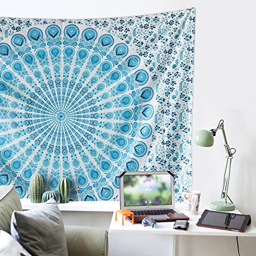 Muses Indian Wall Decor Hippie Tapestries Bohemian Mandala Tapestry Wall Hanging Throw by Muses