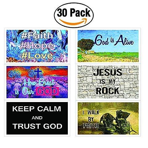 Christian Inspirational Bible Verses Postcards (30-Pack) - How Great is Our God Theme - Prayer Cards - War Room - God Prayer Card