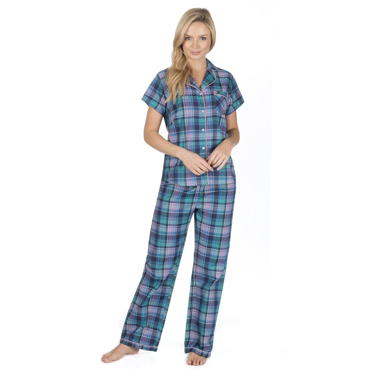 Forever Dreaming Ladies Fleece Pyjama Set with Button Front Top