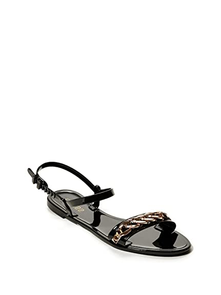173a6e288 Guess Factory Women s Joelle Jelly Chain Sandals  Amazon.ca  Shoes    Handbags