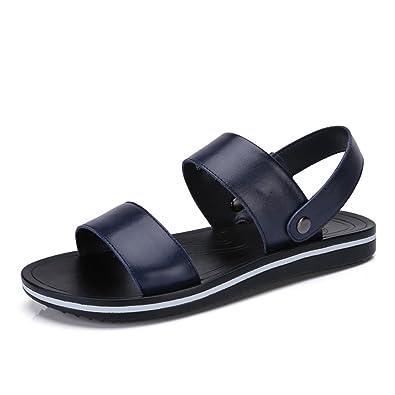 Sandales en cuir d'été pour hommes chaussures e... OjWBO