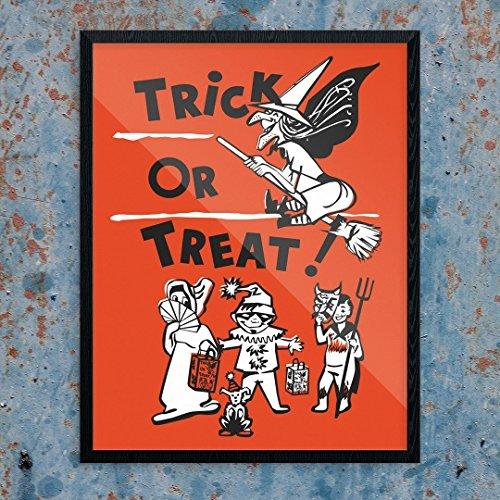 Fridgedoor Halloween Trick or Treaters Print -