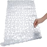 SONGZIMING Pebble Bath Mat for Bathtub to Anti Slip Bathtub Mat in Shower with 16 Inches by 35 Inches (Clear)