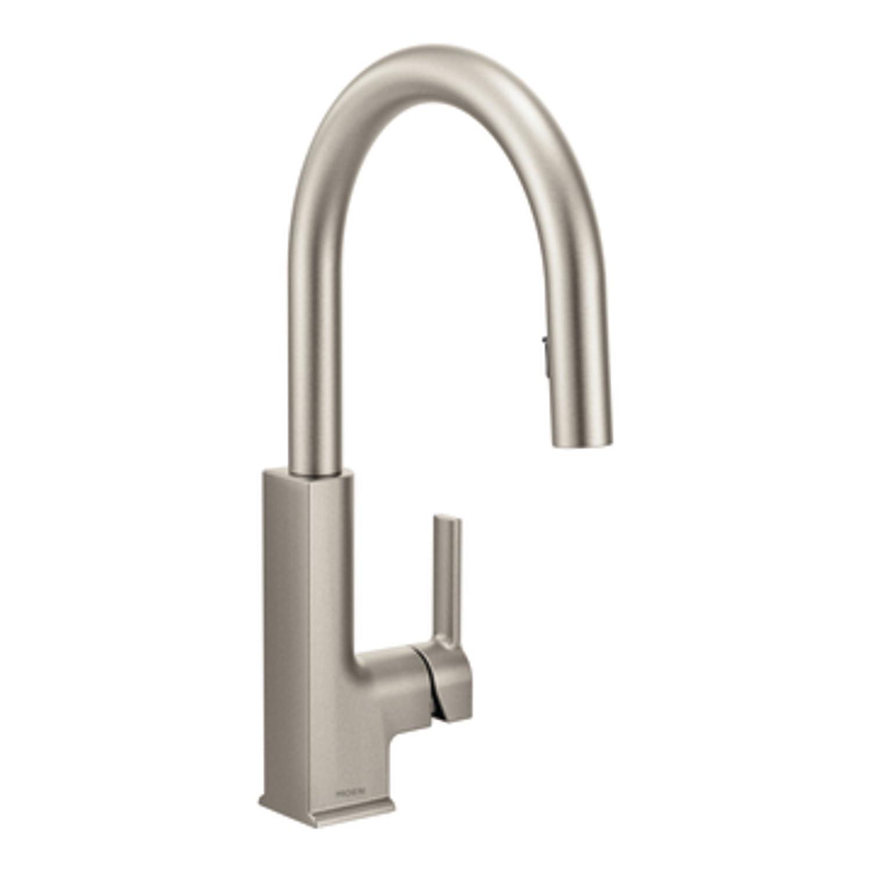 Moen 90 Degree Kitchen Faucet Moen S72308 Sto One Handle High Arc Pulldown Kitchen Faucet