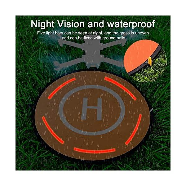 CHUER Drone Landing Pad, Universal Waterproof (D 75cm/30) Landing Pad Pieghevole Portatile per Elicotteri RC Drone, Droni PVB, DJI Mavic PRO Phantom 2/3/4 PRO, Antel Robotic 5 spesavip