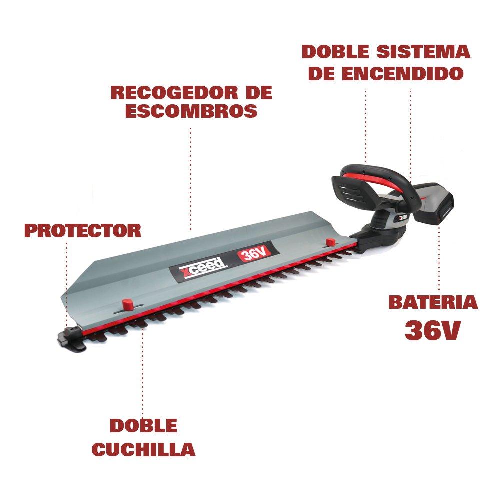 XCEED EX36CHT Cortasetos 60cm 36V 2.0Ah: Amazon.es: Bricolaje y herramientas