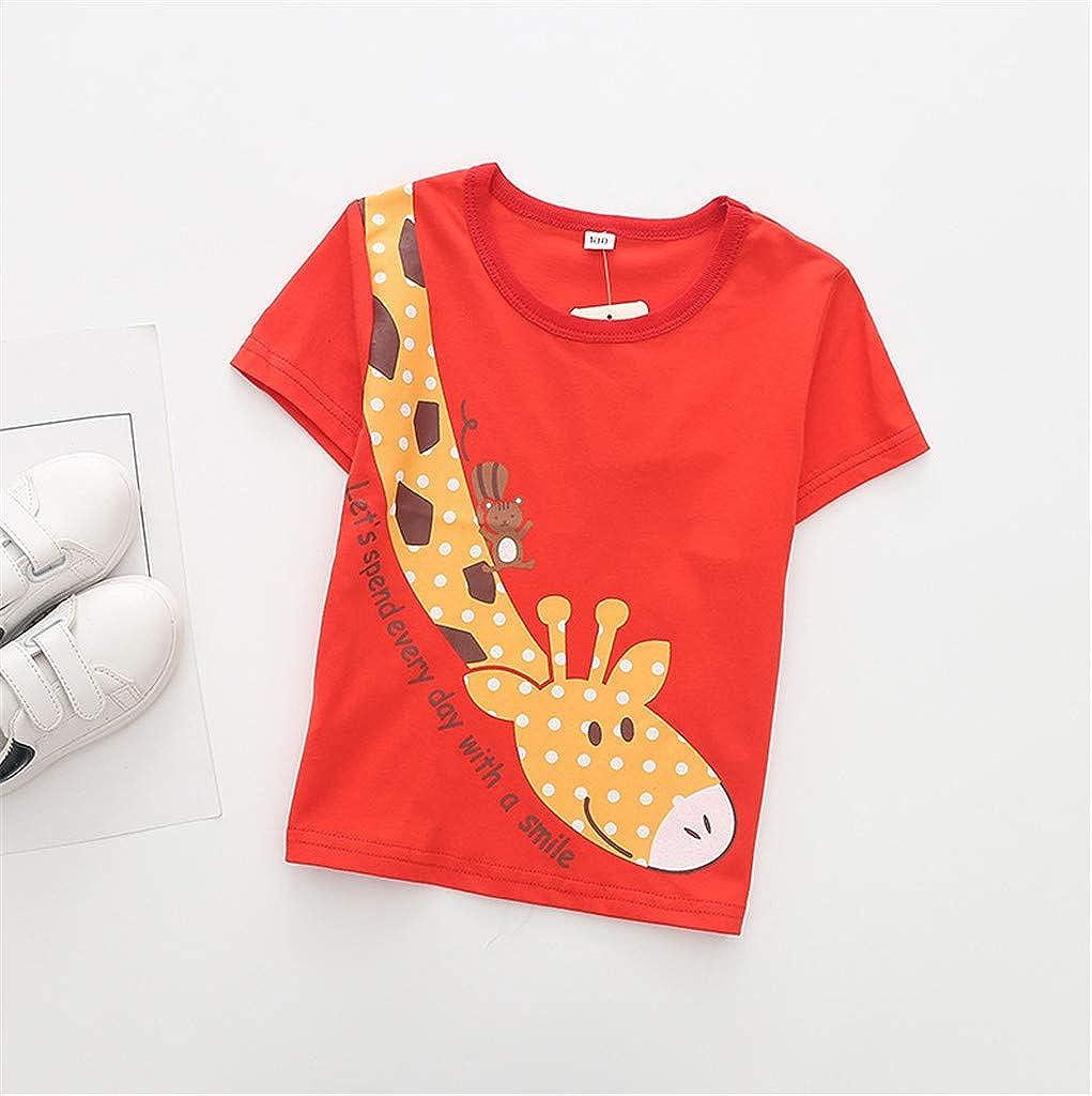 Hatoys Toddler Baby Boy Cartoon Tops T-Shirt Patterned Cartoon Shorts Outfits Set Sleepwears