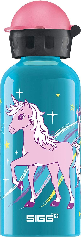 Sigg Bella Unicorn Cantimplora Infantil (0.4 L), Botella para niños sin sustancias nocivas y con Tapa hermética, cantimplora Ligera de Aluminio