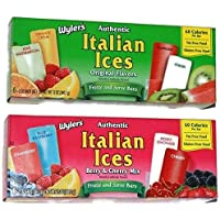 Wyler's Authentic Italian Ices Combo, Berry & Cherry Mix and Original Flavors Net Wt. 24 oz