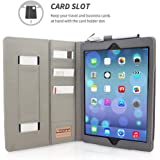 iPad Air (iPad 5) Case, Snugg™ - Executive Smart Cover With Card Slots & Lifetime Guarantee (Grey Leather) for Apple iPad Air (2013)