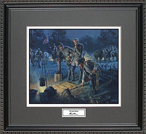 Mort Kunstler THE LAST COUNCIL Framed Wall Art Civil War Print, 18x16